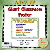 Calculus: Do You Know the Big 8 of a Function Poster