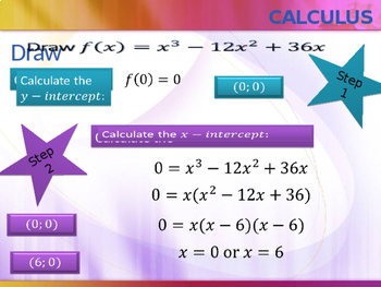 Calculus - Drawing a cubic graph.