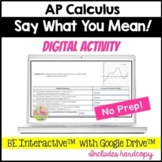 Calculus Explain and Justify Digital Activity Distance Learning