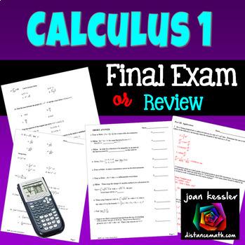 Calculus Final Exam