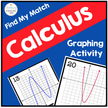 Calculus Find My Match Curve Sketching Activity