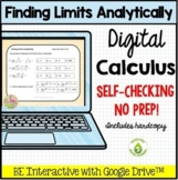 Finding Limits Analytically Daily Quiz Google Edition (Calculus - Unit 1)