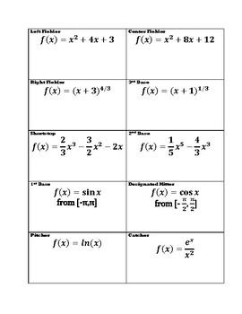 Calculus: First Derivative Test: Baseball!