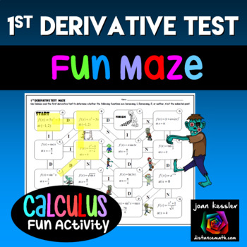Calculus First Derivative Test Maze