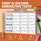 Calculus: First & Second Derivative Tests Math Memory Game
