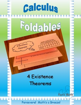 Calculus Foldable 3-1: Four Existence Theorems