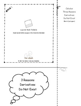 Calculus Foldable 2-2: Three Reasons Derivatives Do Not Exist
