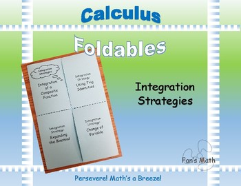 Calculus Foldable 4-3: Integration Strategies