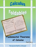 Calculus Foldable 4-4: Fundamental Theorems of Calculus