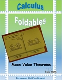 Calculus Foldable 4-5: Mean Value Theorems of Calculus