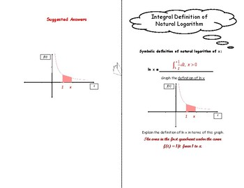 Calculus Foldable 5-1: Integral Definition of Natural Logarithm