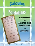 Calculus Foldable 5-3: Exponential and Inverse Trig Deriva