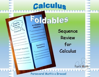 Calculus Foldable 9-1: Sequence Review for Calculus