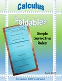 Calculus Foldable 2-3: Simple Derivative Rules