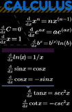 """Calculus Formulas and Theorems - Classroom Poster 11"""" x 17"""""""
