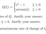 Calculus Free Response Practice #1 (Limits, Continuity, De