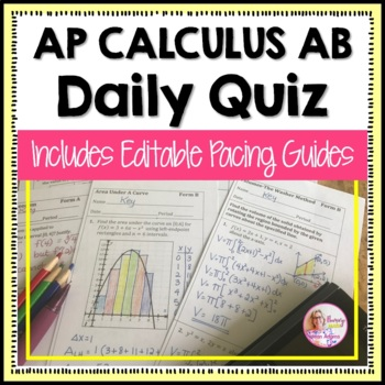 Calculus: Full Year of Daily Quizzes