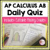 AP Calculus AB Daily Quiz Bundle (Full Year)