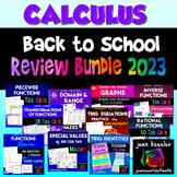 Calculus Honors Review Bundle