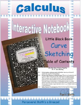 Calculus Interactive Notebook 3: Curve Sketching Aids