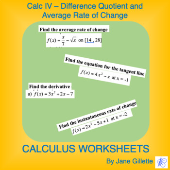 Calculus IV: Practice with the Difference Quotient