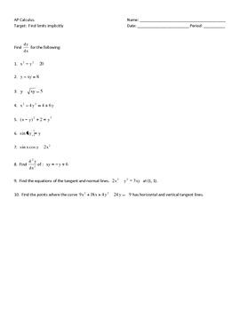 Calculus - Implicit Differentiation