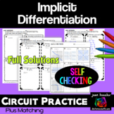 Calculus Implicit Differentiation Circuit  Style Practice