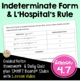 Indeterminate Forms and L'Hospital's Rule (BC Calculus Unit 4)