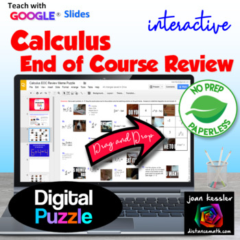 Calculus End of Year Review  with GOOGLE Slides