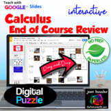 Calculus End of Year Review with GOOGLE Slides™  Distance Learning