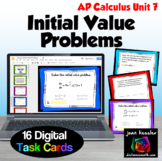 Calculus Initial Value Problems Digital Task Cards with GO