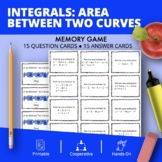 Calculus Integrals: Area Between Two Curves Math Memory Game