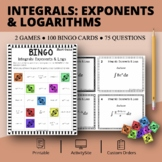 Calculus Integrals: Exponents and Logs Math Bingo Review Game