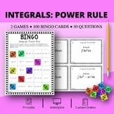 Calculus Integrals: Power Rule Math Bingo Review Game