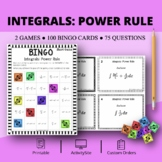 Calculus Integrals: Power Rule Math Bingo Review Game