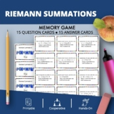 Calculus Integrals: Riemann Summations Math Memory Game