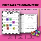 Calculus Integrals: Trigonometric Math Bingo Review Game