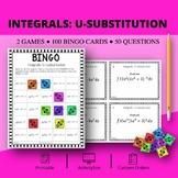 Calculus Integrals: U-substitution Math Bingo Review Game