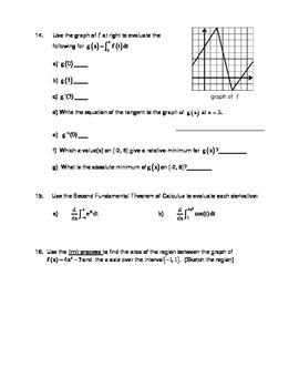Calculus Integration Assessment