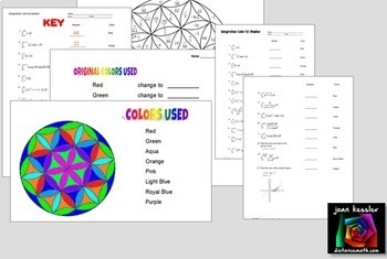 Calculus Integration Color by Number