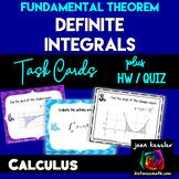 Calculus Integration Fundamental Theorem Task Cards plus Handout