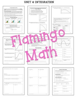 Calculus: Integration Guided Student Notes Bundle
