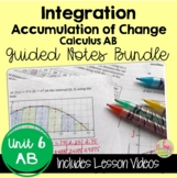 Calculus Integration Guided Notes with Video Lessons (AB V