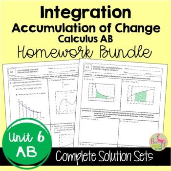 Calculus: Integration Homework Only Bundle