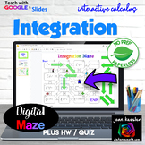 Calculus Integration Interactive Digital Maze GOOGLE Slides