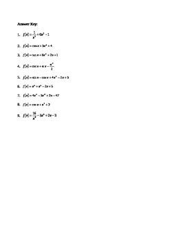 Calculus:  Integration - Particular Solutions