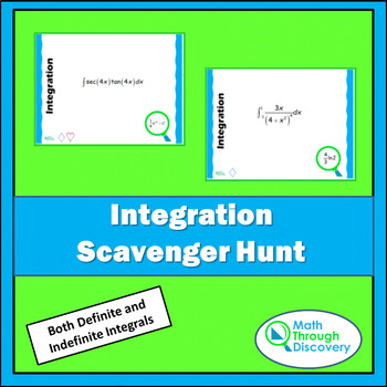 Calculus:  Integration Scavenger Hunt