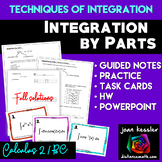 Calculus BC Integration by Parts PowerPoint Task Cards HW