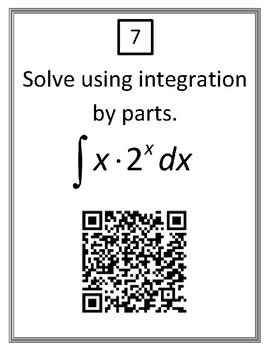 Calculus Integration by Parts QR Codes Activity