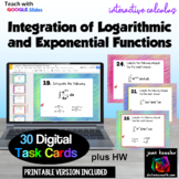 Calculus Integration Exponential and Logarithmic Functions GOOGLE slides plus HW